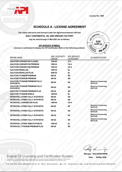 Petrovöll Certificates